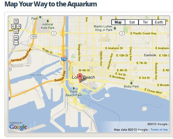 Aquarium of the pacific Directions to aquarium
